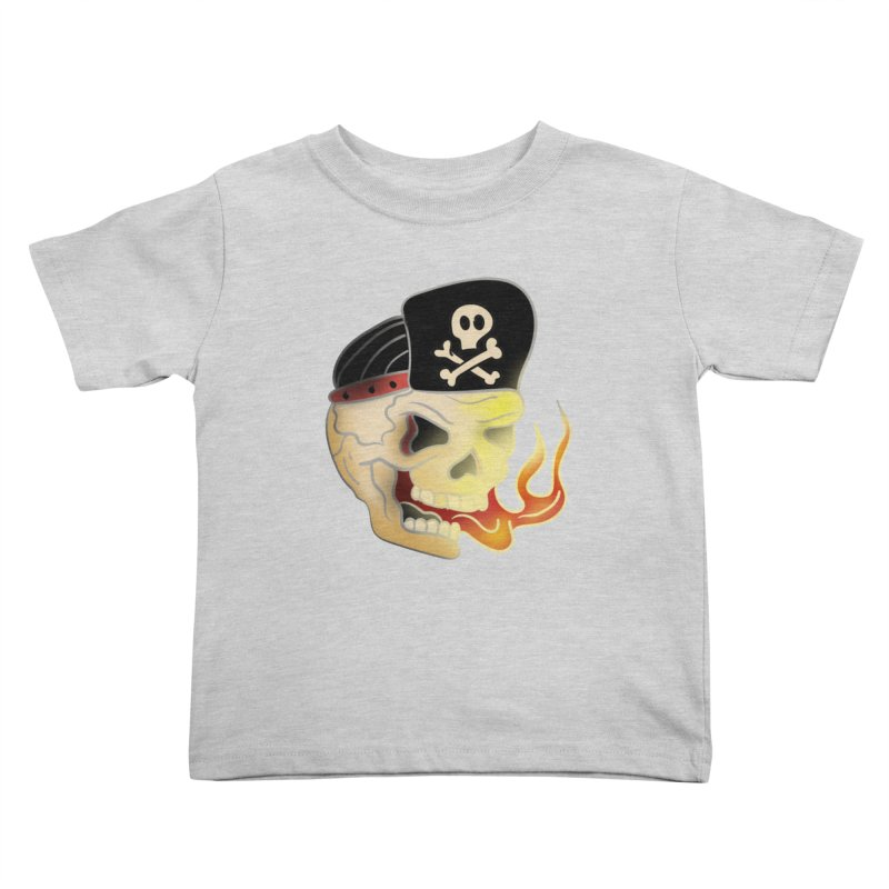 Skull Skate Punk Kids Toddler T-Shirt by TenAnchors's Artist Shop