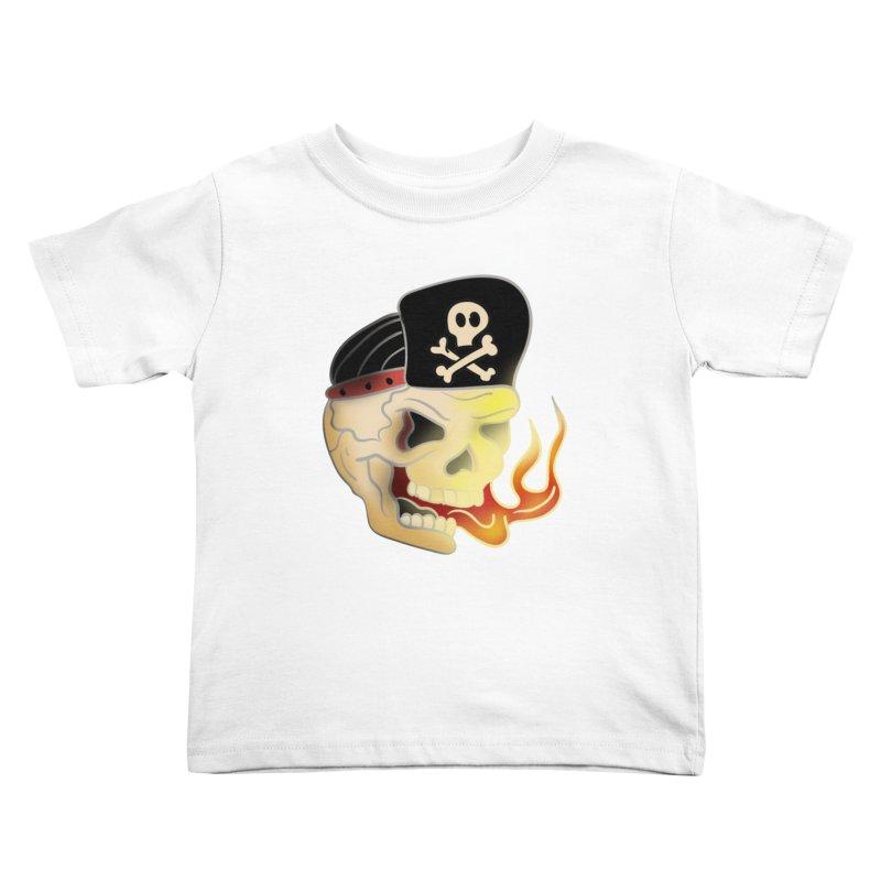 Skull Skate Punk Kids Toddler T-Shirt by TenAnchors's Artist Shop