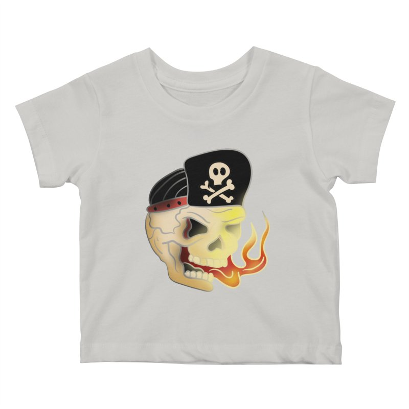 Skull Skate Punk Kids Baby T-Shirt by TenAnchors's Artist Shop