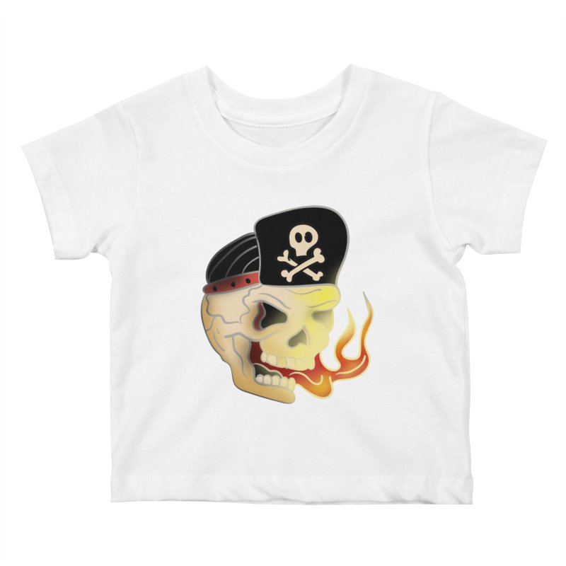 Skull Skate Punk Kids Baby T-Shirt by TenAnchors's Artist Shop