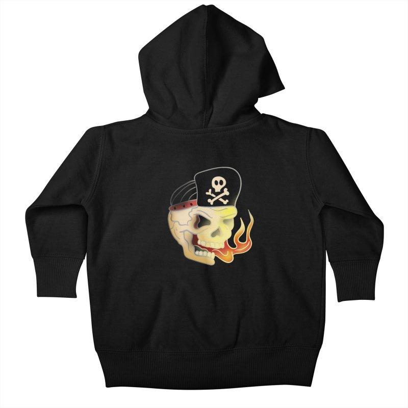 Skull Skate Punk Kids Baby Zip-Up Hoody by TenAnchors's Artist Shop