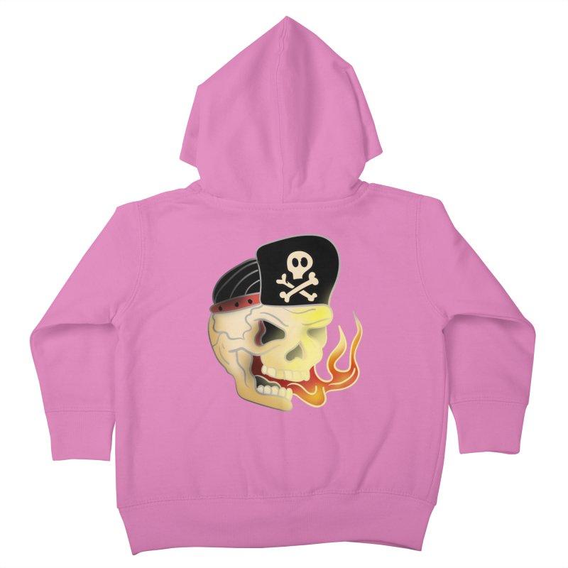 Skull Skate Punk Kids Toddler Zip-Up Hoody by TenAnchors's Artist Shop