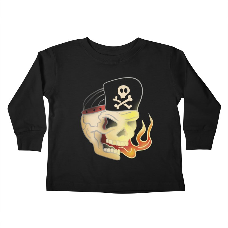 Skull Skate Punk Kids Toddler Longsleeve T-Shirt by TenAnchors's Artist Shop