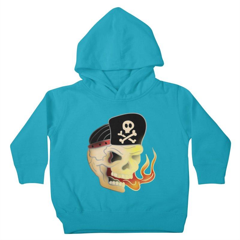 Skull Skate Punk Kids Toddler Pullover Hoody by TenAnchors's Artist Shop