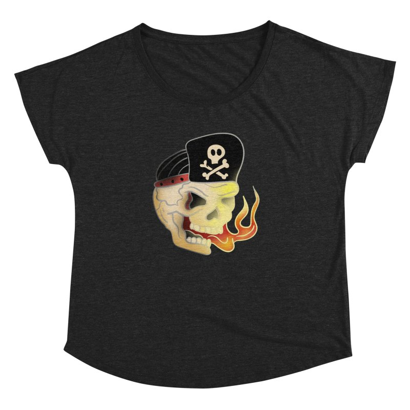 Skull Skate Punk Women's Dolman by TenAnchors's Artist Shop