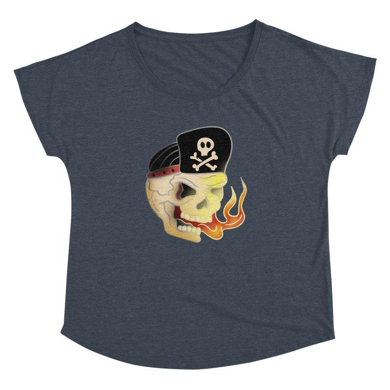 Skull Skate Punk Women's Dolman by TenAnchors's Artist Shop