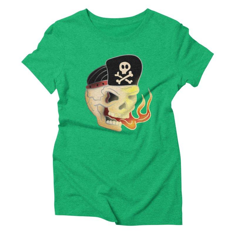 Skull Skate Punk Women's Triblend T-Shirt by TenAnchors's Artist Shop