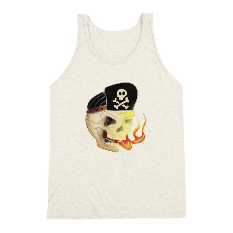 Skull Skate Punk Men's Triblend Tank by TenAnchors's Artist Shop
