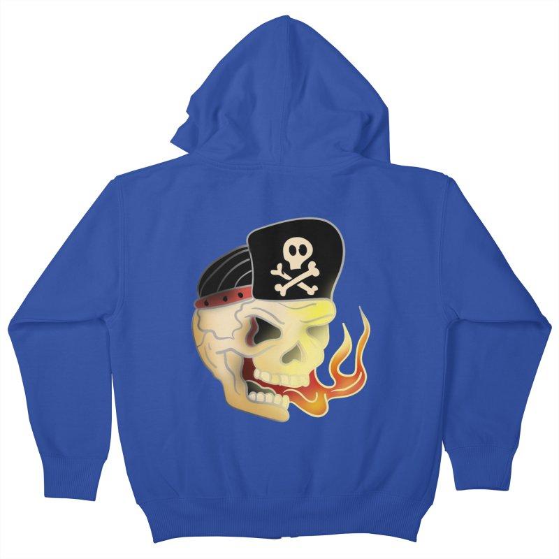 Skull Skate Punk Kids Zip-Up Hoody by TenAnchors's Artist Shop