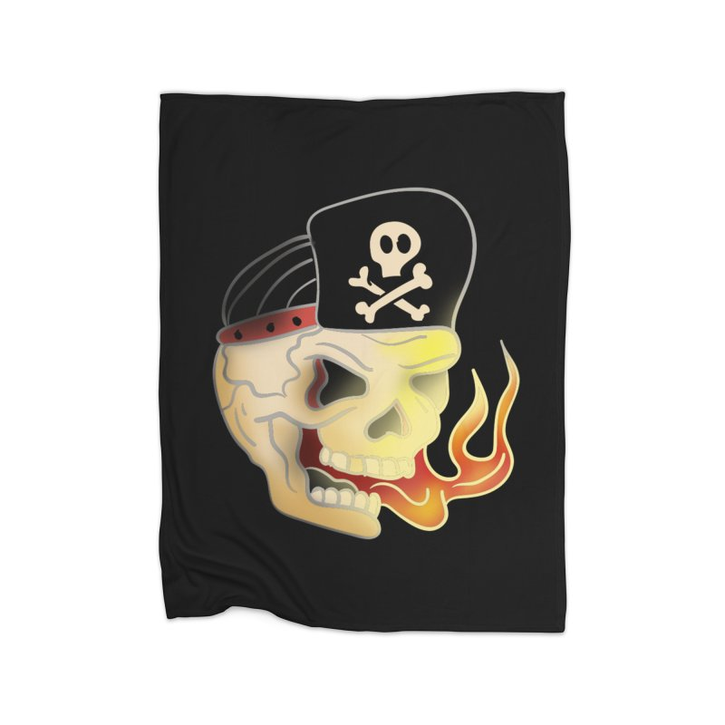 Skull Skate Punk Home Blanket by TenAnchors's Artist Shop