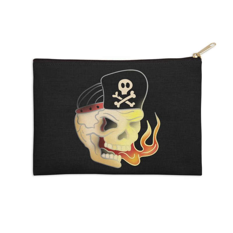 Skull Skate Punk Accessories Zip Pouch by TenAnchors's Artist Shop