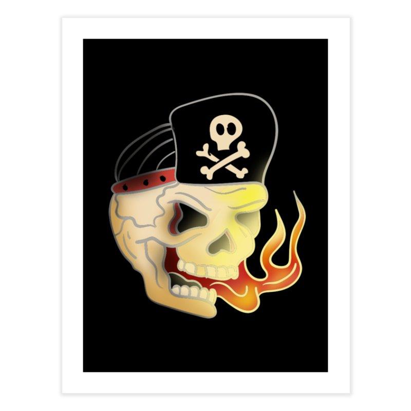 Skull Skate Punk Home Fine Art Print by TenAnchors's Artist Shop