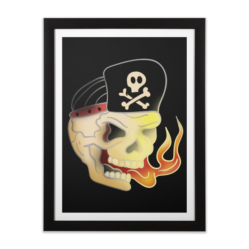 Skull Skate Punk Home Framed Fine Art Print by TenAnchors's Artist Shop