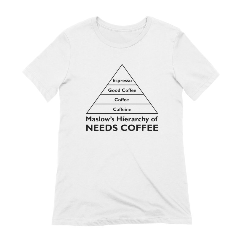 Maslow's Hierarchy of Needs Coffee Women's T-Shirt by TenEastRead's Artist Shop