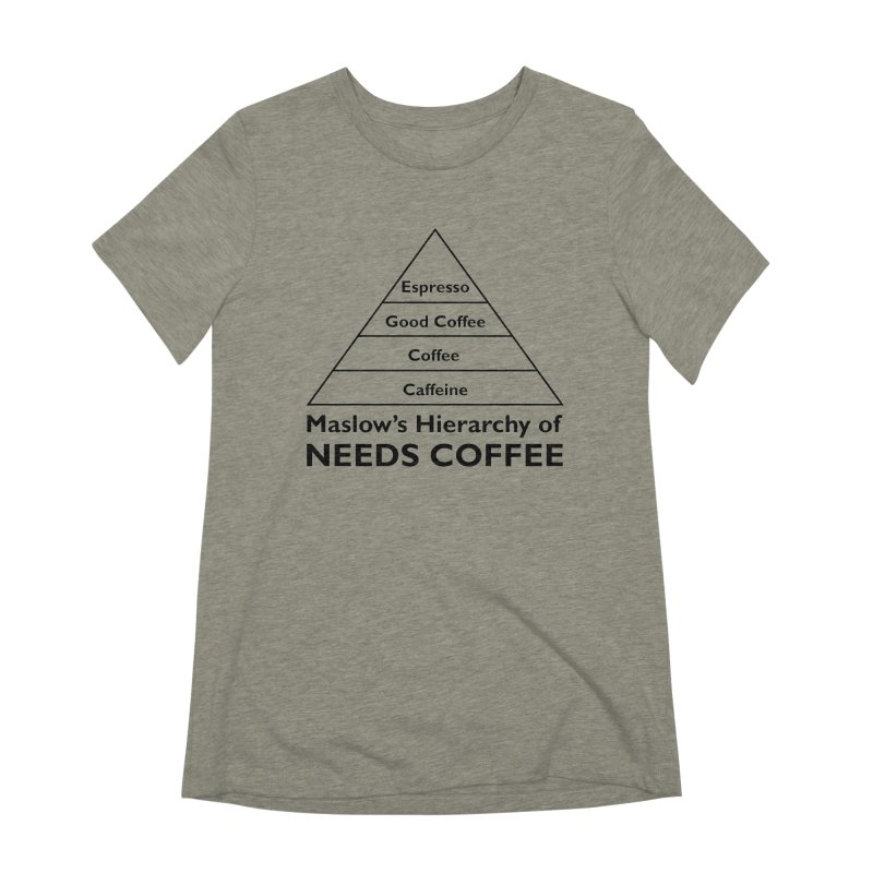 Maslow's Hierarchy of Needs Coffee Women's Extra Soft T-Shirt by TenEastRead's Artist Shop