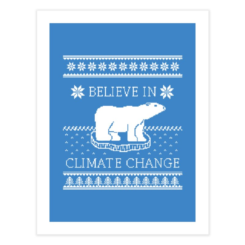 Polar Bears Against Climate Change Ugly Sweater Home Fine Art Print by TenEastRead's Artist Shop