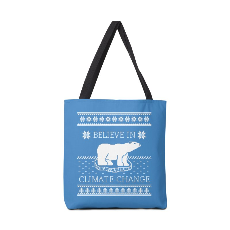 Polar Bears Against Climate Change Ugly Sweater Accessories Tote Bag Bag by TenEastRead's Artist Shop