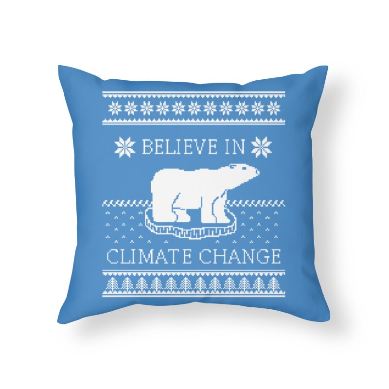 Polar Bears Against Climate Change Ugly Sweater Home Throw Pillow by TenEastRead's Artist Shop