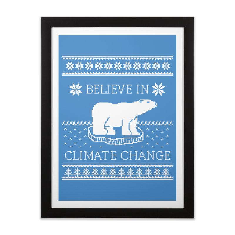 Polar Bears Against Climate Change Ugly Sweater Home Framed Fine Art Print by TenEastRead's Artist Shop