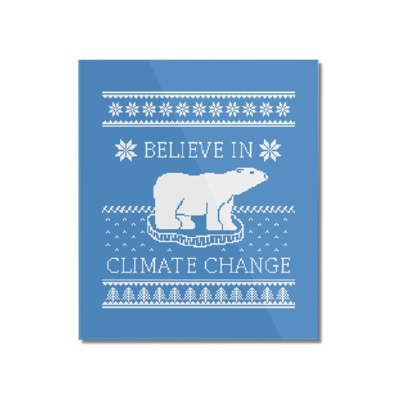 Polar Bears Against Climate Change Ugly Sweater Home Mounted Acrylic Print by TenEastRead's Artist Shop