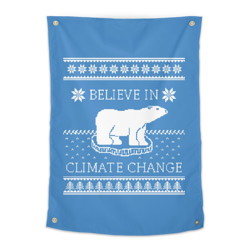 Polar Bears Against Climate Change Ugly Sweater Home Tapestry by TenEastRead's Artist Shop