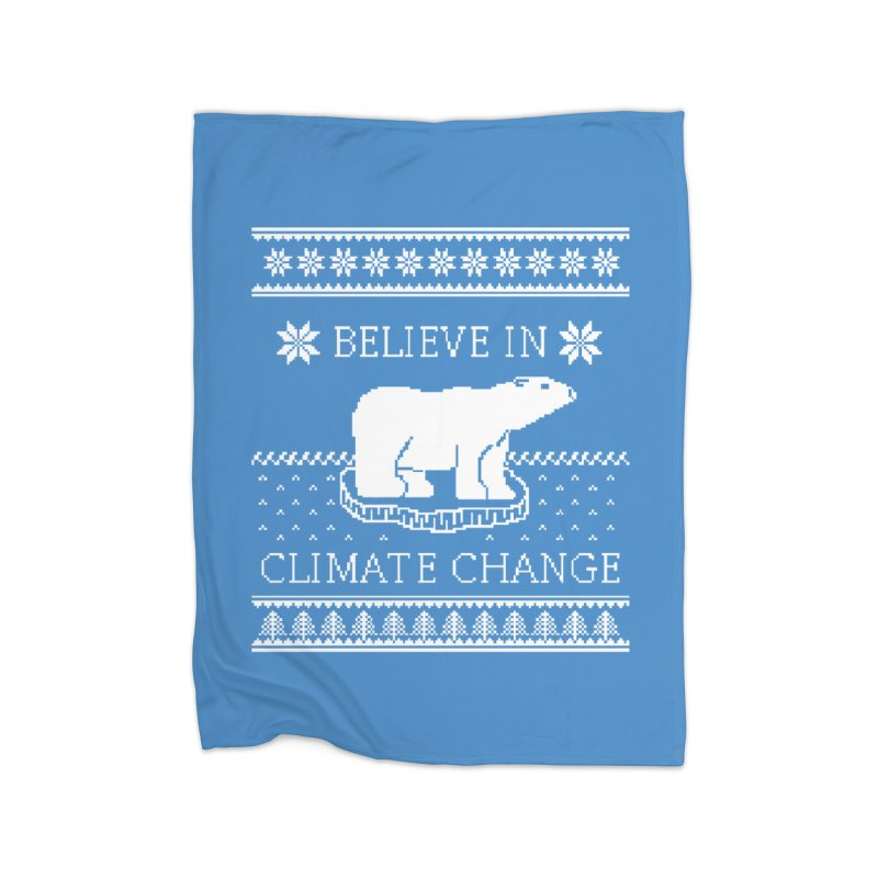 Polar Bears Against Climate Change Ugly Sweater Home Blanket by TenEastRead's Artist Shop