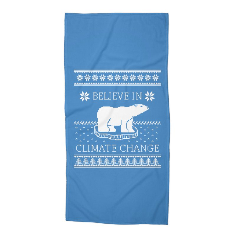 Polar Bears Against Climate Change Ugly Sweater Accessories Beach Towel by TenEastRead's Artist Shop