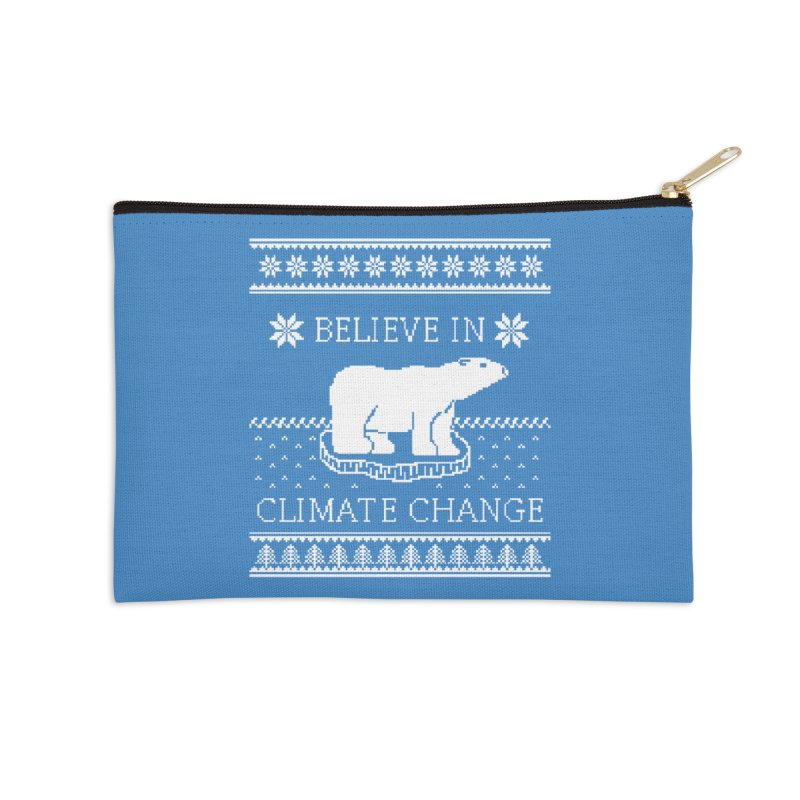 Polar Bears Against Climate Change Ugly Sweater Accessories Zip Pouch by TenEastRead's Artist Shop