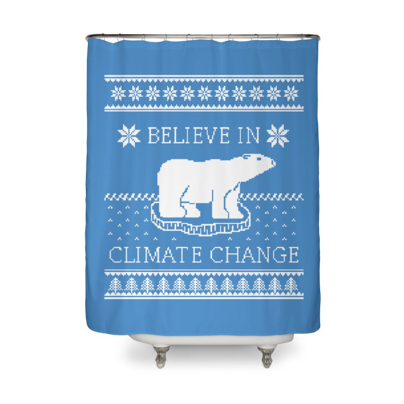 Polar Bears Against Climate Change Ugly Sweater Home Shower Curtain by TenEastRead's Artist Shop