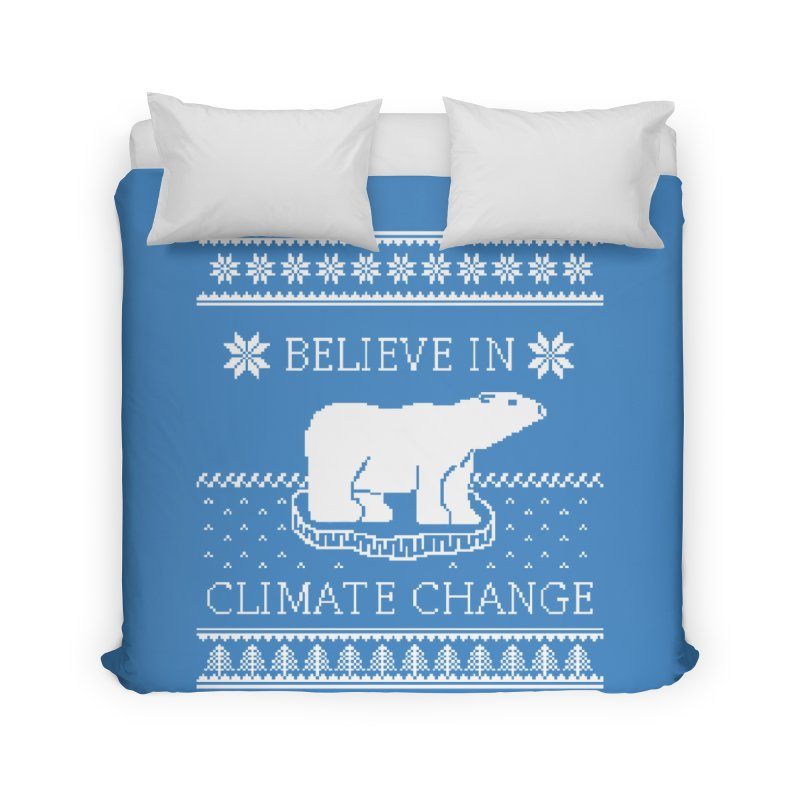 Polar Bears Against Climate Change Ugly Sweater Home Duvet by TenEastRead's Artist Shop