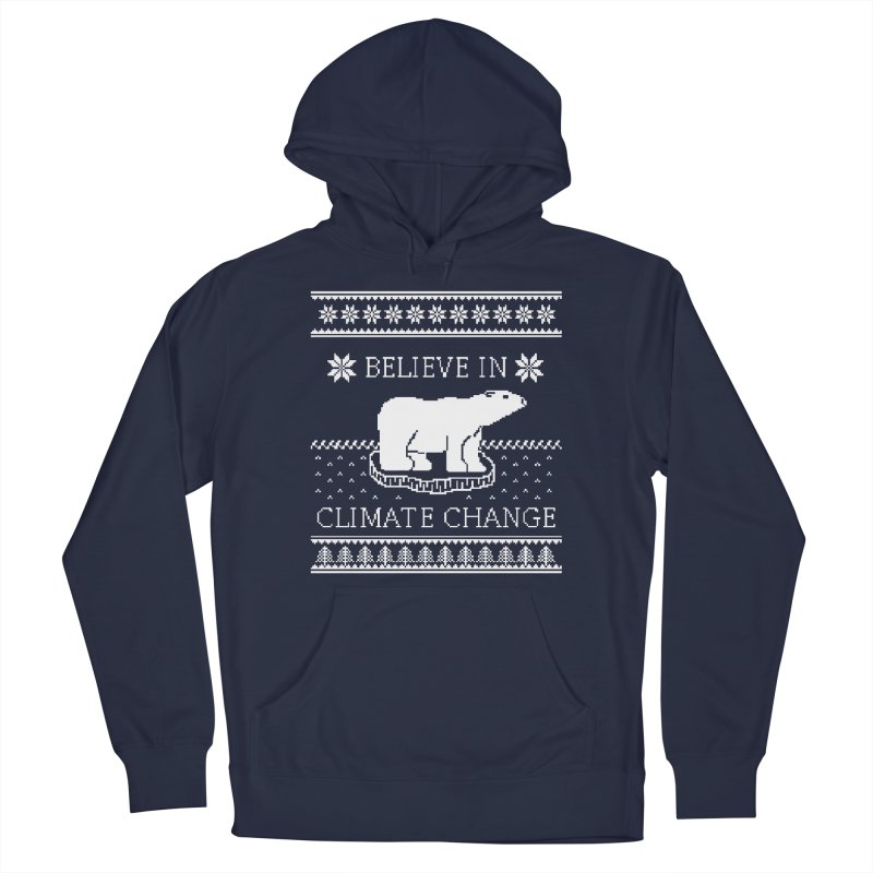 Polar Bears Against Climate Change Ugly Sweater Men's French Terry Pullover Hoody by TenEastRead's Artist Shop