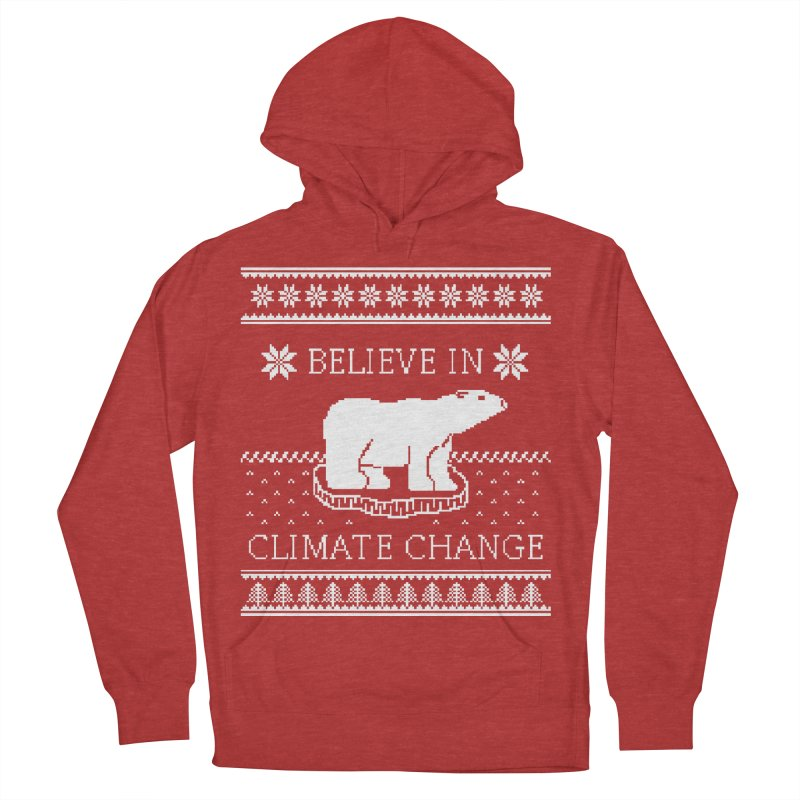 Polar Bears Against Climate Change Ugly Sweater Men's Pullover Hoody by TenEastRead's Artist Shop