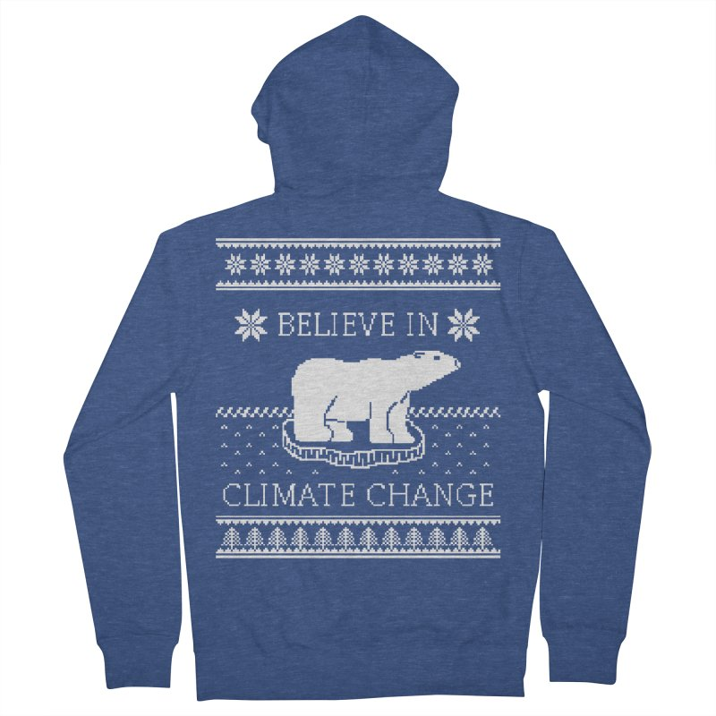 Polar Bears Against Climate Change Ugly Sweater Men's French Terry Zip-Up Hoody by TenEastRead's Artist Shop