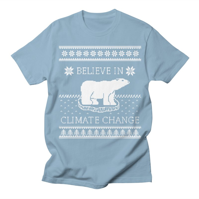 Polar Bears Against Climate Change Ugly Sweater Men's T-shirt by TenEastRead's Artist Shop