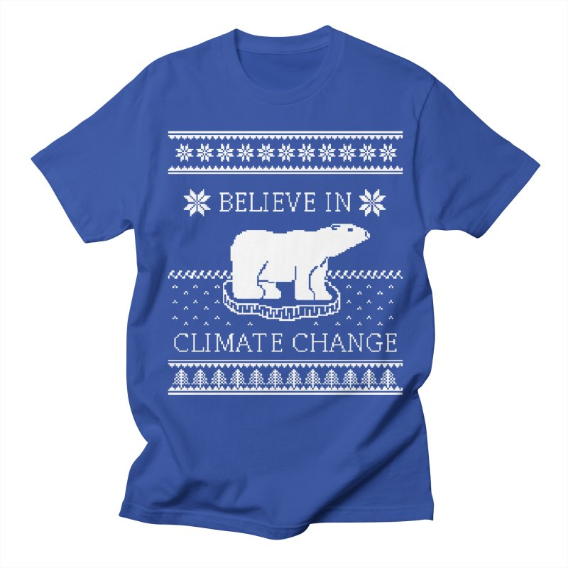 Polar Bears Against Climate Change Ugly Sweater Women's Regular Unisex T-Shirt by TenEastRead's Artist Shop