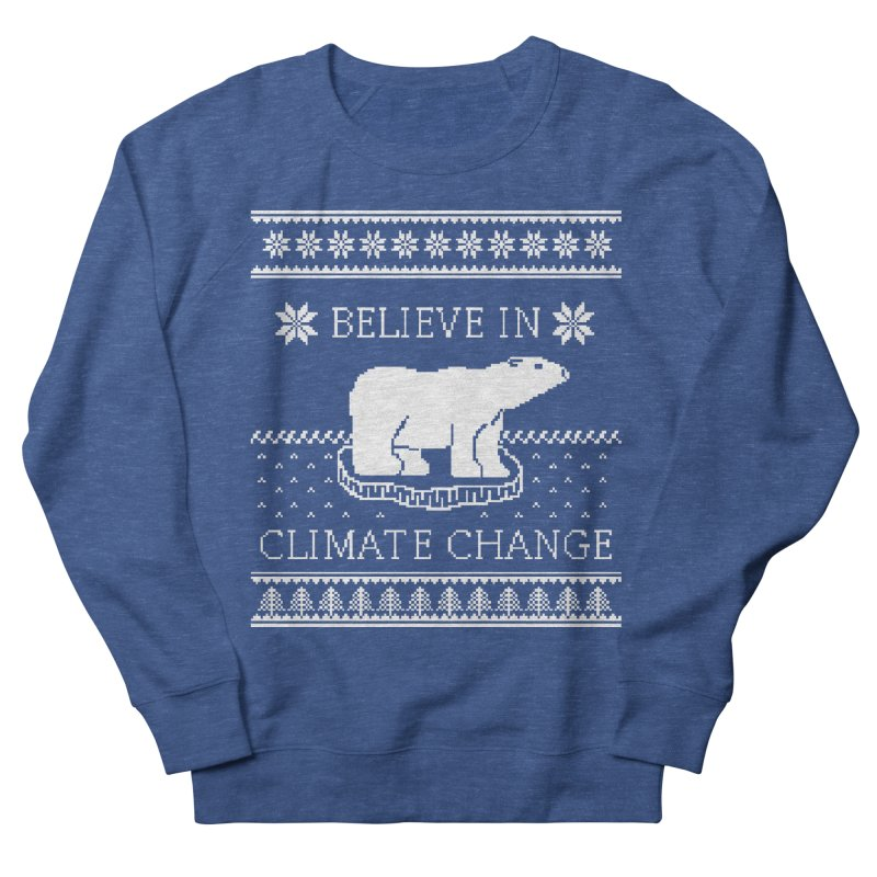 Polar Bears Against Climate Change Ugly Sweater Women's French Terry Sweatshirt by TenEastRead's Artist Shop