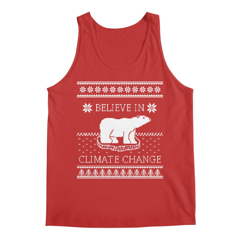 Polar Bears Against Climate Change Ugly Sweater Men's Regular Tank by TenEastRead's Artist Shop