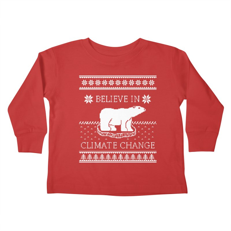 Polar Bears Against Climate Change Ugly Sweater Kids  by TenEastRead's Artist Shop