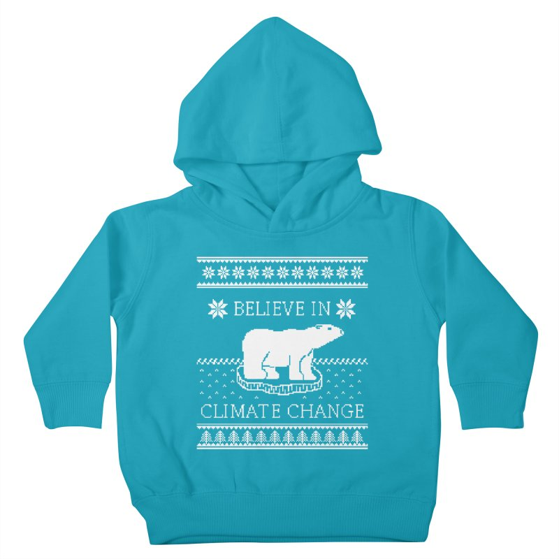 Polar Bears Against Climate Change Ugly Sweater Kids Toddler Pullover Hoody by TenEastRead's Artist Shop