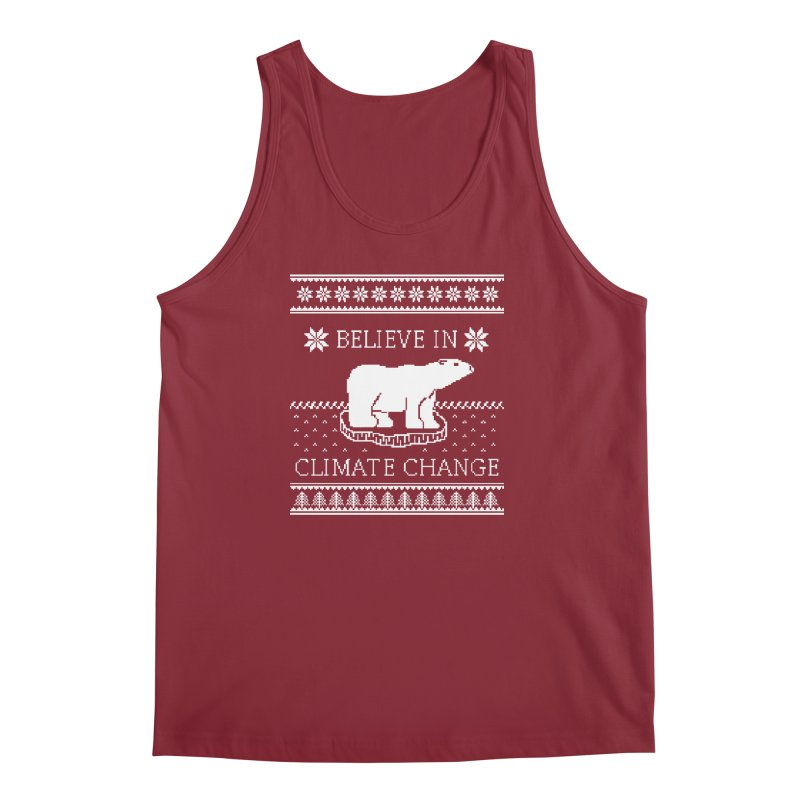 Polar Bears Against Climate Change Ugly Sweater Men's Tank by TenEastRead's Artist Shop