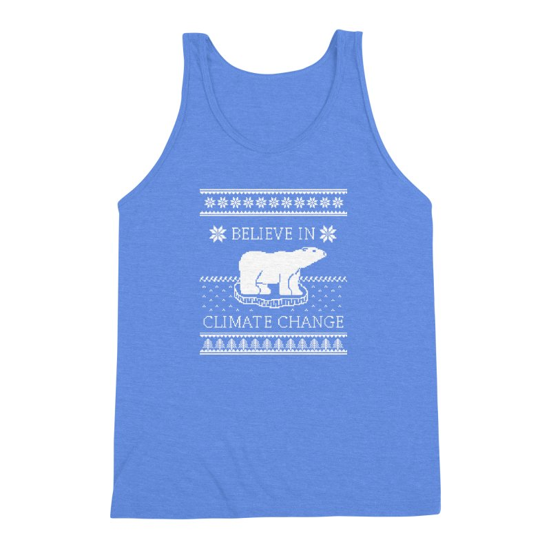 Polar Bears Against Climate Change Ugly Sweater Men's  by TenEastRead's Artist Shop