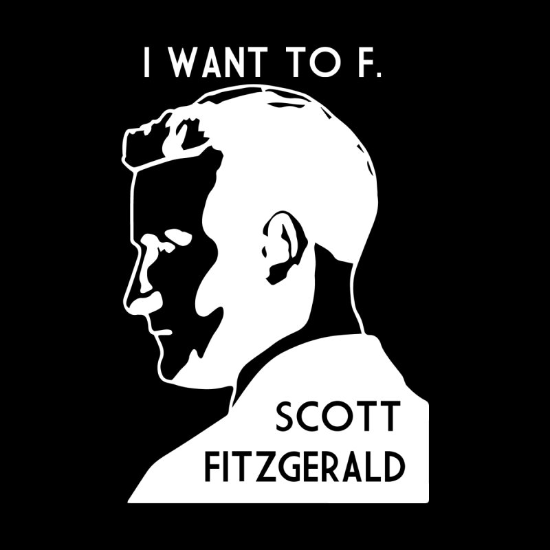 I Want to F. Scott Fitzgerald Men's Zip-Up Hoody by TenEastRead's Artist Shop