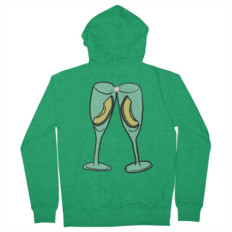 Avocado Toast Women's French Terry Zip-Up Hoody by TenEastRead's Artist Shop