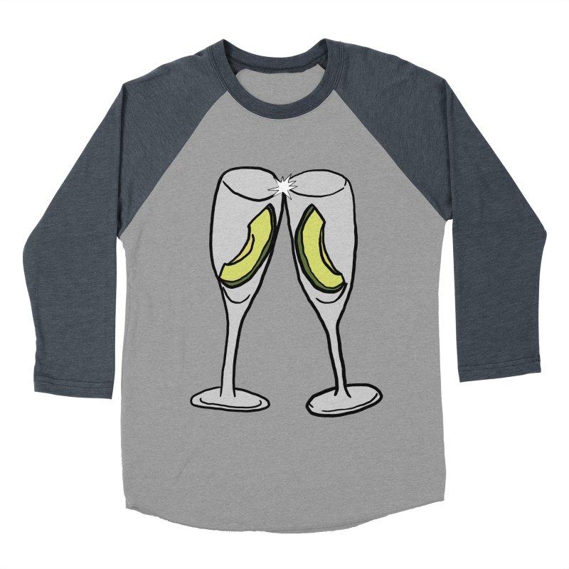 Avocado Toast Men's Baseball Triblend Longsleeve T-Shirt by TenEastRead's Artist Shop