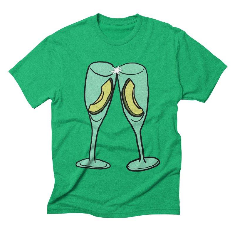 Avocado Toast Men's Triblend T-shirt by TenEastRead's Artist Shop