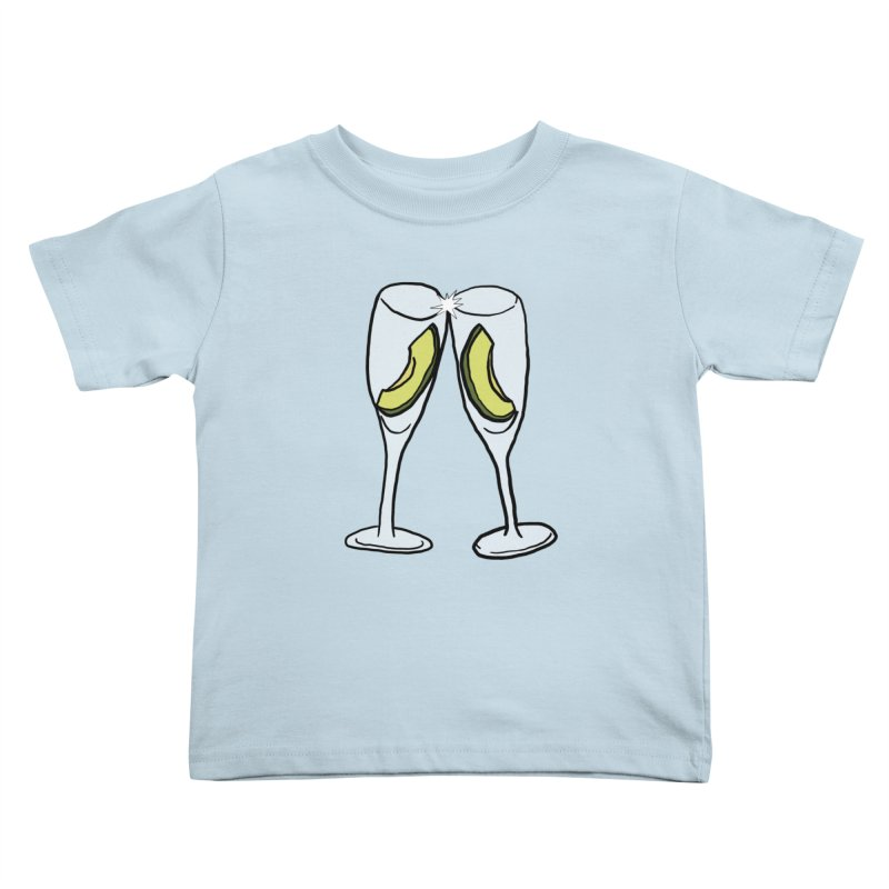 Avocado Toast Kids Toddler T-Shirt by TenEastRead's Artist Shop
