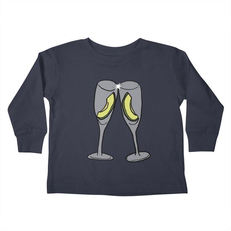 Avocado Toast Kids Toddler Longsleeve T-Shirt by TenEastRead's Artist Shop