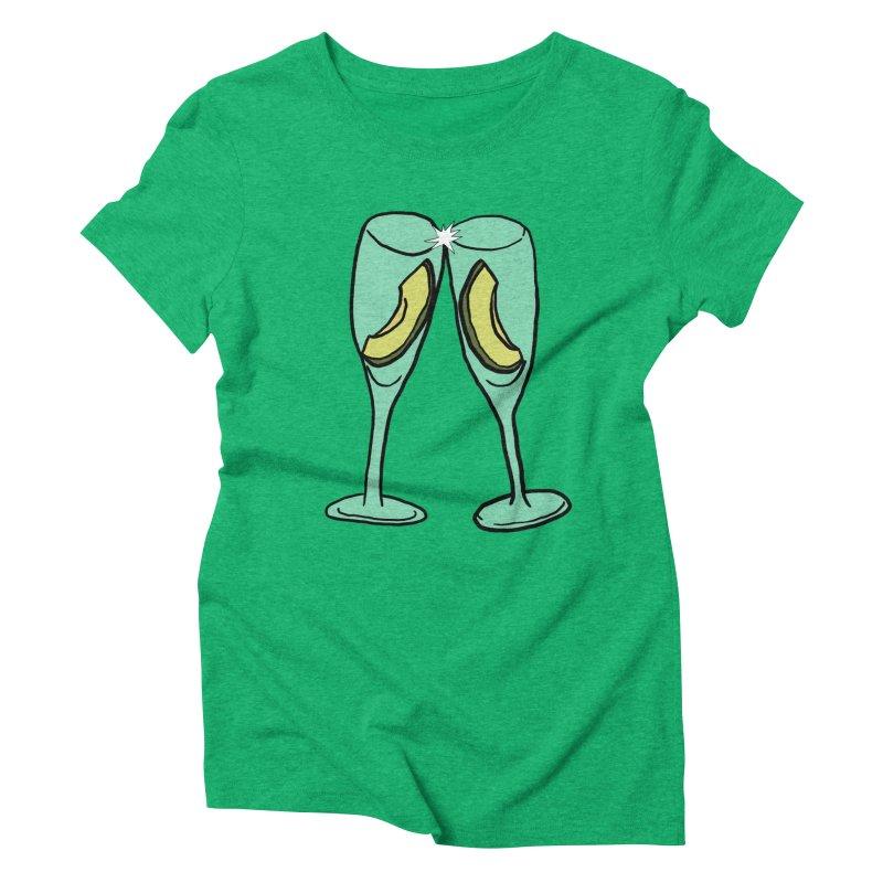 Avocado Toast Women's Triblend T-Shirt by TenEastRead's Artist Shop