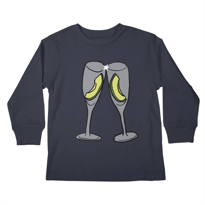 Avocado Toast Kids Longsleeve T-Shirt by TenEastRead's Artist Shop