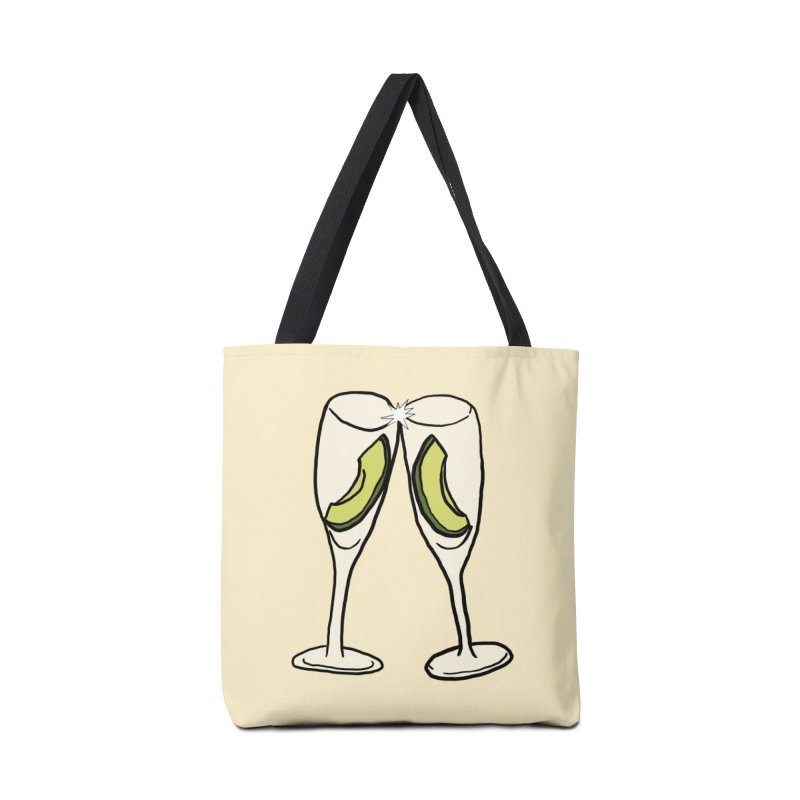 Avocado Toast Accessories Bag by TenEastRead's Artist Shop